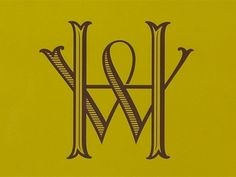 Dribbble - Hawthorne & Wren Monogram by Kevin Cantrell