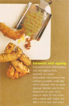 tumeric anti-aging - Anti Aging Tips - Skin and Nutrition  - just to name a few, many benefits for tumeric