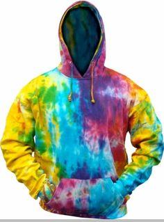 5b0e6d51ae5 Rainbow Reactive Swirl Tie Dye Hoodie