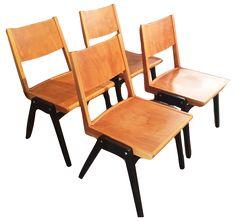 Set of 4 Lubke Stuhl Mid-Century Dining Chairs