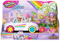 Happy Places Shopkins Rainbow Convertible Childrens Toy in Toys & Games. Shoppies Dolls, Shopkins And Shoppies, Shopkins Gifts, Shopkins Cars, Shopkins Rainbow, Shopkins Playsets, Toys For Girls, Kids Toys, Shopping
