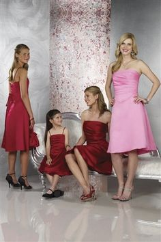 like the style of the pink one...from perfect bridesmaid dresses