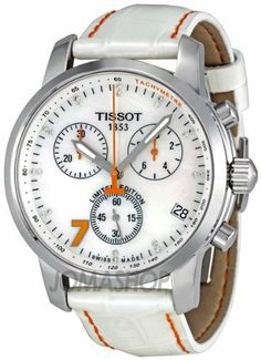 Tissot PRC 200 Danica Patrick Chronograph Diamond Ladies Watch T0144171611600 Tissot. $620.16. A screw-down crown (knob) creates a water-resistant seal.  To unscrew the crown, turn counter-clockwise and pull/push into position to set time, date, and other functions.. Caseback: Stainless steel, screw-down. Prominently featuring Danica Patrick's lucky number seven in orange, the watch stands out from the crowd with twenty top Wesselton diamonds surrounding the mothe...