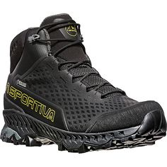 You'll keep your feet cool while looking cool when you're wearing the La Sportiva Stream GTX technical hiking boots. These boots are a mid-cut, lightwei. Trail Shoes, Hiking Shoes, Hiking Gear, Gents Fashion, Stylish Mens Fashion, Casual Boots, Casual Sneakers, Adidas Boots, Espadrilles