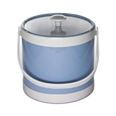 Mr. Ice Bucket 430-1 Springtime 3-Quart Ice Bucket, Baby Blue * More info could be found at the image url. (Amazon affiliate link)