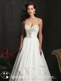 Bridal Gowns Allure  9057 Bridal Gown Image 3