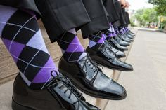Patent Leather Shoes and Argyle Socks    Photography: Maria Angela Photography   Read More:  http://www.insideweddings.com/weddings/vintage-inspired-purple-wedding-near-the-university-of-pittsburgh/634/