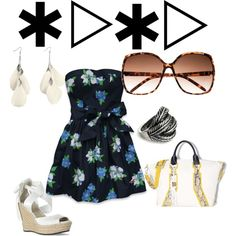 casual sun-day, created by marissapip on Polyvore
