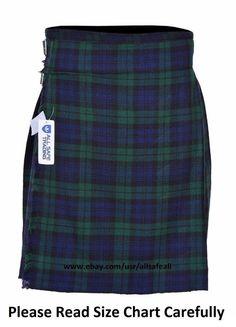 SAWANS 5 Yard Men/'s Scottish Kilts 13oz Highland Casual Tartan Kilt Various Size
