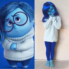 DIY Inside Out Sadness Halloween Costume Idea #besthalloweencostumes