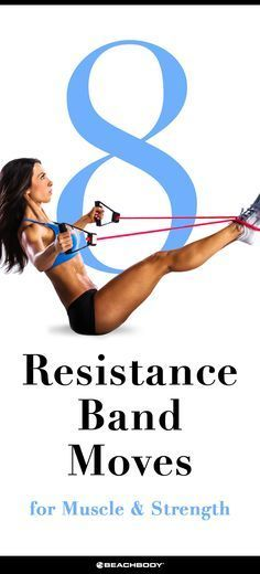 8 Resistance Bands Moves for Muscle and Strength | The Beachbody Blog #resistancebands