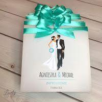 Lovely Invitation - Zaproszenia na każdą okazję: Amelia - Turkusowe zaproszenia ślubne