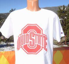 32256cde vintage 90s t-shirt osu OHIO STATE university buckeyes champion tee Large