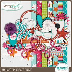 My Happy Place Add On Page Kit, Daily Download, Day 1