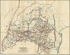Boer War Maps - Map of the Boer Republic of Transvaal Showing Blockhouse Lines and South African Constabulary Posts with Dates of Completion. South African Flag, Everything Is Illuminated, War Novels, Africa Map, Treasure Maps, Historical Maps, African History, Cartography, Military History