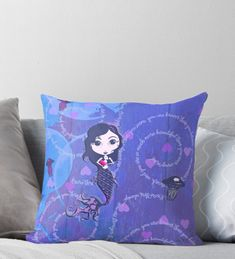 'Inspired by You - Violet Mermaid, of Throw Pillow by LittleMissTyne Mermaid Gifts, Cute Mermaid, You Are Smart, You Are Strong, Stronger Than You, Art Boards, Finding Yourself, Iphone Cases, Lovers