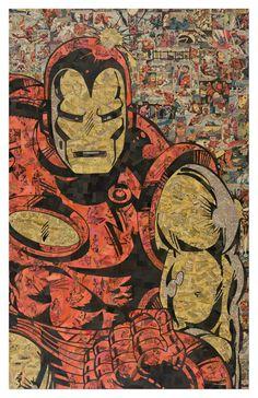 Hombre de hierro 2 impresión 11 x 17 por ComicCollageArt en Etsy