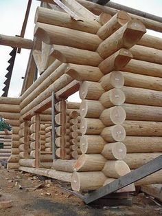 Construction Gallery - True Log Homes Diy Log Cabin, How To Build A Log Cabin, Small Log Cabin, Log Cabin Kits, Log Cabin Homes, Log Cabins, Timber House, Wooden House, Small Log Homes