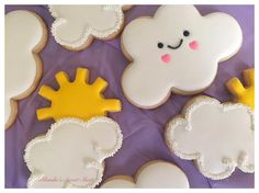 Cloud and Sunshine Cookies