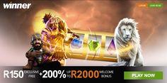 Winner Casino, Casino Bonus, Casino Reviews, Mobile Casino, Online Mobile, Online Casino Games, Lion Sculpture, Join