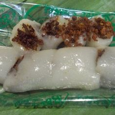 Sweet Rice Dessert : Kalamay-Kapit (Sticky Rice Flour in Coconut Milk and Sugar)