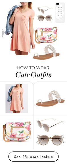 """""""Summer outfit"""" by kyla-sestric on Polyvore featuring Charlotte Russe, Apt. 9, Jessica Simpson and Christian Dior"""