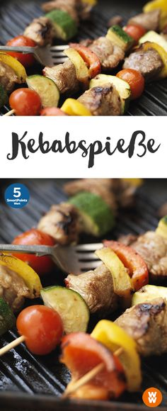 Kebabspie e Kebabspie e Kebab Spie Grillen Hauptgericht Weight Watchers Weight Watchers Snacks, Plats Weight Watchers, Best Beef Tenderloin Recipe, Perfect Beef Tenderloin, Skewer Recipes, Roast Recipes, Grilling Recipes, Kebab Skewers, Kabob