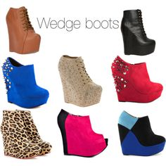 """Wedge boots"" by missquiincytrendblog on Polyvore"