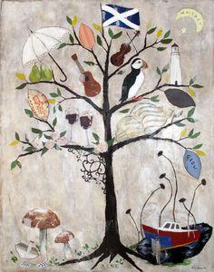 Custom family tree paintings by Rebecca Rebouche
