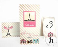 "Meniu nunta cu tema Paris – ""BERENICE"" Love Story, Place Cards, Place Card Holders, Paris, Drinks, Drinking, Montmartre Paris, Beverages, Paris France"