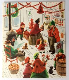 people-christmas-shopping-town-general-store-50s-vintage-christmas-greeting-card-de1ccb48d2fae6ae82d95e5caa56cbeb.jpg (1379×1600)