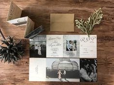 Natural Wedding Invitations  All in One Design with Tear off