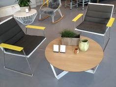 Recliner I Designed by Adam Goodrum for Tait I Looking great with the Nano table I Indoor or outdoor