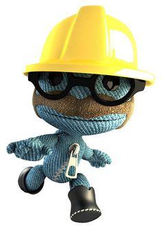 LittleBigPlanet sackboy: Construction Worker.
