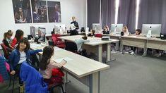 La Școala de Televiziune Junior copii fac primii pași în lumea magică a micului ecran. Micuții învață și se joacă cu tehnologia de ultimă oră, fiind gata pentru viitorul care li se așterne în fața lor. Înscrierile se pot face sunând la numărul de telefon: 0743 221 018 ☎️0743221018 🌻www.tvjunior.ro #scoaladeteleviziunejunior Conference Room, Desk, Furniture, Home Decor, Desktop, Decoration Home, Room Decor, Table Desk, Home Furnishings