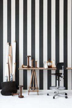 love it: stripes on the wall