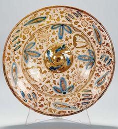 Plato de cerámica de reflejo metálico, Manises, siglo XVI - Subastas Segre