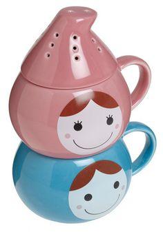 Adorable tea storage and mug #tea