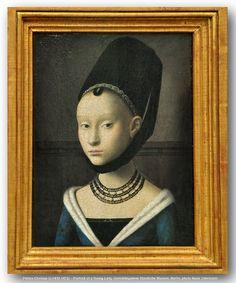 Petrus Christus (c.1410-1472) – Portrait of a Young Lady. Gemäldegalerie Staatliche Museen, Berlin.