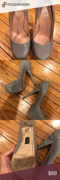 Alejandro INGELMO gray patent leather heels size 9 Heels 6 inches platform 1.5 inches Alejandro Ingelmo Shoes Platforms