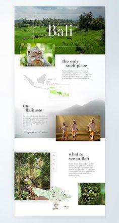 Bali by Natalia Berowska Travel Website Design, Travel Brochure Design, Website Design Layout, Web Layout, Travel Design, Layout Design, Design Sites, Web Design Websites, Graphisches Design