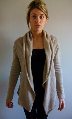 Soft Wrap Cardigan Machine Knitting Pattern by KnitDesignDownloads, £5.00