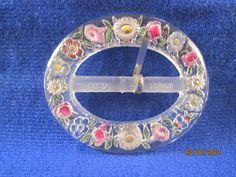 Vintage Belt Buckle with Floral detail Made in by rarefinds4u, $16.95