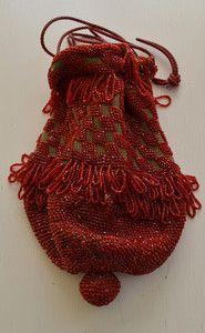 Stunning Antique 1920s Drawstring Beaded Purse Bag Satchel – N79   eBay