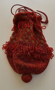 Stunning Antique 1920s Drawstring Beaded Purse Bag Satchel – N79 | eBay