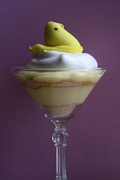 Peeps Pudding Parfait - Banana or Vanilla