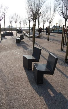 Escofet Banco Nigra Seats by Marshalls. Worthing - Splash Point Project