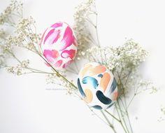 DIY simple abstract easter eggs - Zakkiya Hamza| Inkstruck Studio