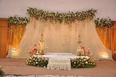 All Details You Need to Know About Home Decoration - Modern Stage Decoration Photos, Simple Stage Decorations, Wedding Hall Decorations, Marriage Decoration, Engagement Decorations, Wedding Stage Design, Wedding Reception Backdrop, Wedding Mandap, Wedding Designs