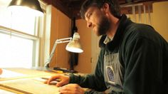 """Nick Wroblewski is an award winning woodcut printmaker. His work is born from the aesthetic of Japanese masters and the imagery of the Wisconsin Driftless region just outside his studio window; he lives in Viroqua WI.  In this brief portrait, we meet Nick, and witness the start to finish creation of his print """"Sway"""". Great video of reduction process.  Nick discusses techniques, creative processes and his love of the process."""